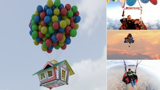 A Guy Wants to Fly Across the Atlantic Ocean Using a Bunch of Balloons Just Like the Movie UP