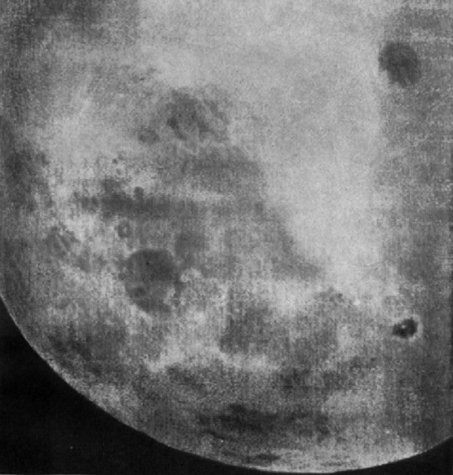 Our very first glimpse of the Moon's far side