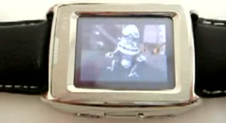M500 GSM/MP3/MP4 Cellphone Watch, In Action