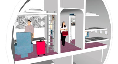 Jumbo Airplane Hotel Allows Mile High Club Experience on the Ground