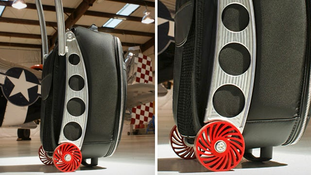 This Suitcase's Shock-Absorbing Wheels Can Traverse the Roughest Terrain
