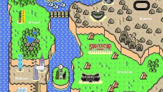 The Five Boroughs of the Mushroom Kingdom