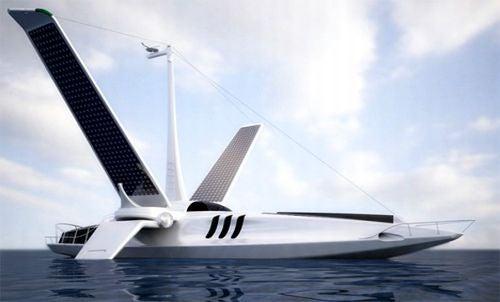 Super Boat Uses Wings For Solar Power, Sharp Turns
