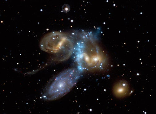 One Galaxy Smashes Into Four Others At 2 Million Miles Per Hour