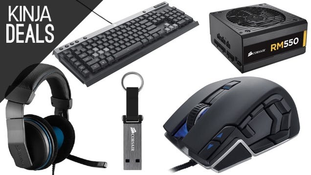 Corsair Gaming Gear, PC Parts, and Flash Drives Are On Sale Right Now