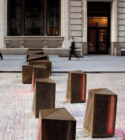 New York's Beautiful Rotating LED Anti-Terrorism Sculptures