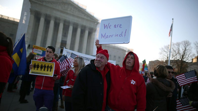 There's Lots of Love Outside the Supreme Court Today as Justices Hear Prop 8 Arguments