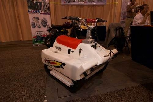 Tracked Snowmobile