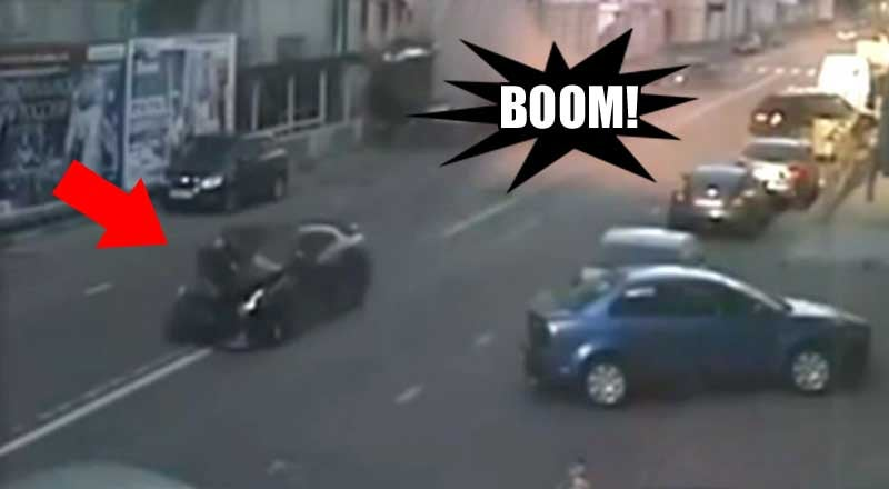 Watch a Nissan GT-R slam into parked cars at high speed
