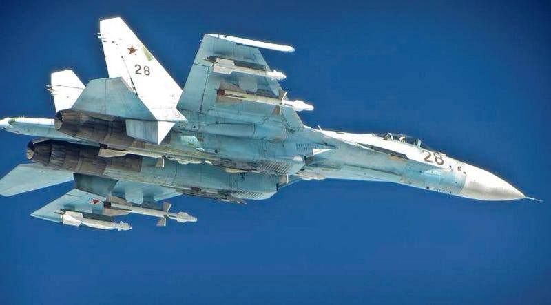 Photos of NATO fighters intercepting fully armed Russian jets