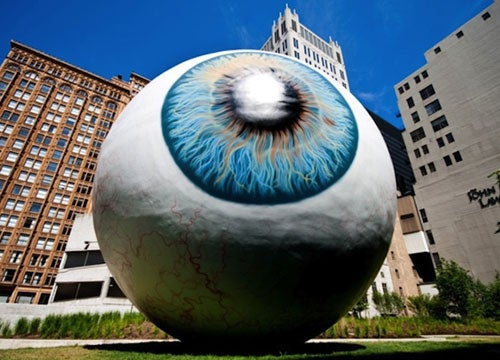 How your eye views itself
