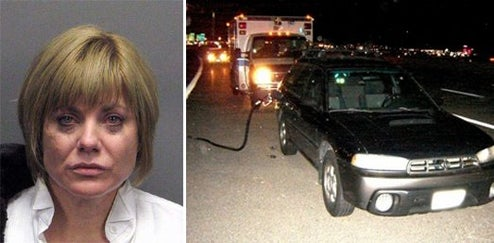 Drunk Woman Pulled Over By Ambulance