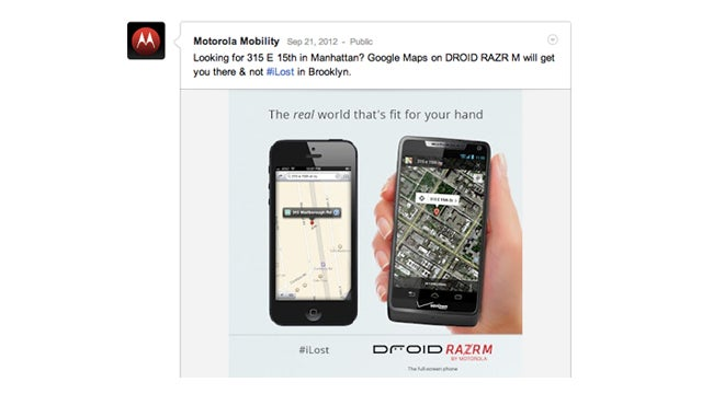 Did Motorola Fake an Address to Make Apple Maps Look Even Worse Than It Is?