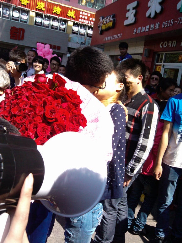 China's Superman Wedding Proposal Required a Crane