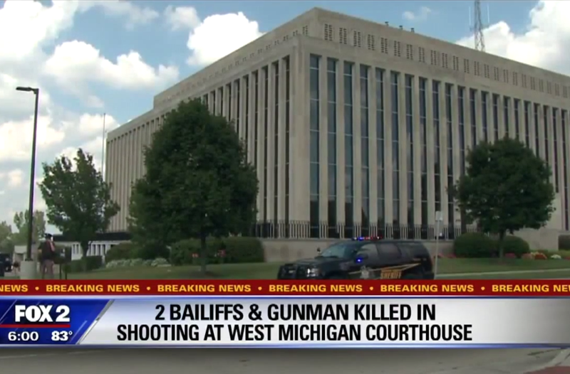 3 Dead at Michigan Courthouse After Inmate Disarms Officer, Shoots Bailiffs