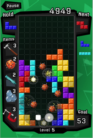 Lightning Review: iPhone Tetris App
