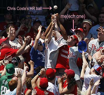 One Man's Fight For A Home Run Ball...In Pictures