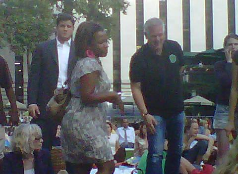 Glenn Beck Catches a Movie in the Park
