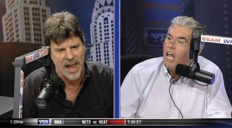 Mike Francesa And Daily News Reporter Battle To See Who Screams Louder