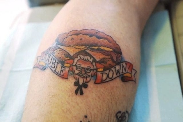 This Adult Human Being Now Has a Tattoo of a KFC Double Down
