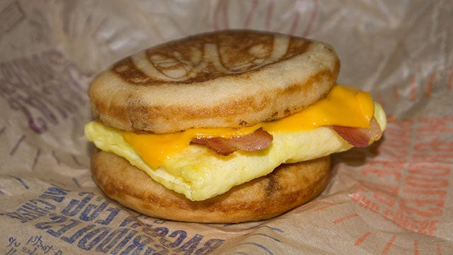 The Snacktaku Slider: Bacon, Egg and Cheese McGriddle
