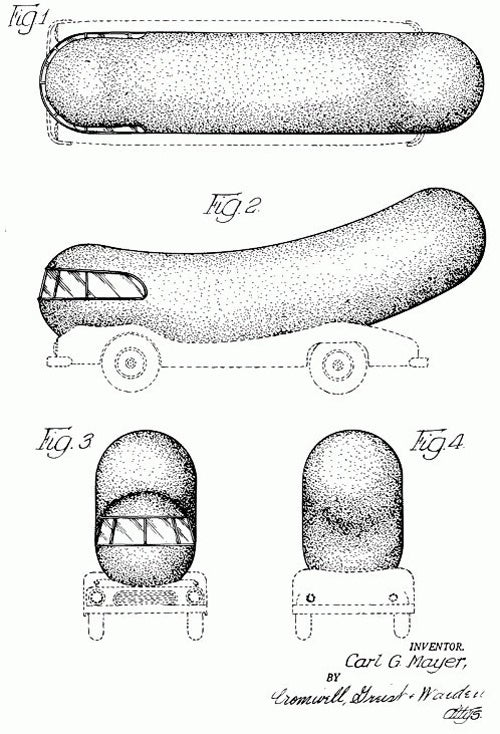Ever Seen The Patent For The Wienermobile?