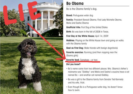 Barack Obama Is Lying to You About His Puppy