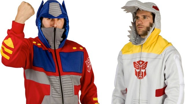 Optimus Prime and Grimlock hoodies transform cold days into robot fashion shows