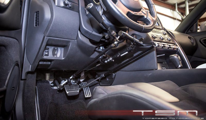How Badass Is A Nissan GT-R With Hand Controls?