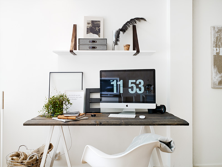 The Airy Apartment Workspace