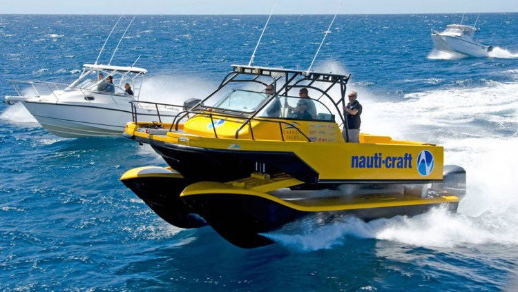 This Prototype Catamaran Lets You Cruise the Sea on Suspension Stilts