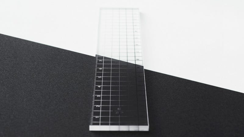 The Gradient Markings On This Ruler Are Visible On Light or Dark Paper