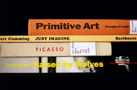 Profound and hilarious poetry written by arranging book spines