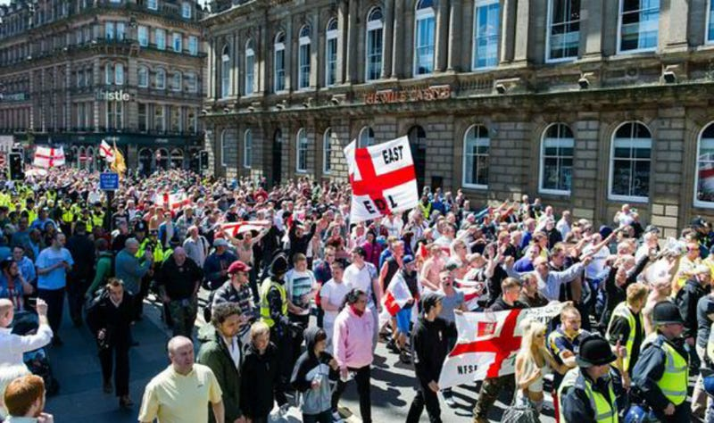 Far-Right Groups March Through Northern England After Attack on Soldier