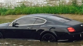 Greg Hardy Abandons Bentley In Flash Flood