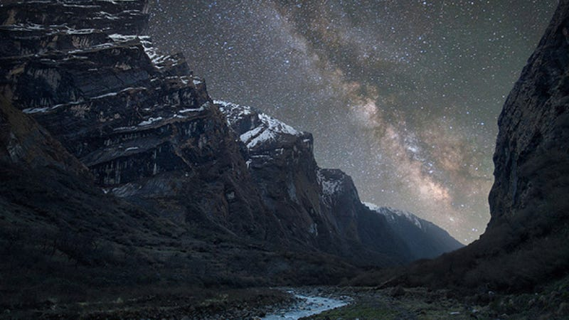 A stunning, luminescent view of the Milky Way Galaxy from the Himalayas