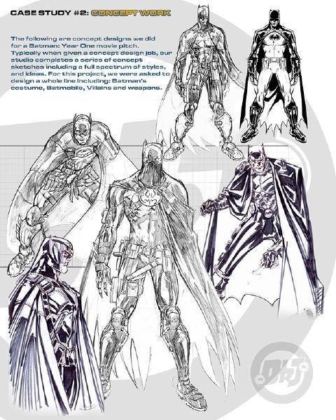 Concept Art shows off Darren Aronofsky's Batman movie that never was