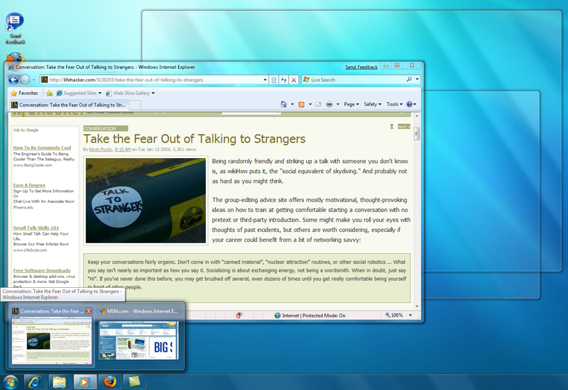 Windows 7 Aero Peek Even Better in Latest Build