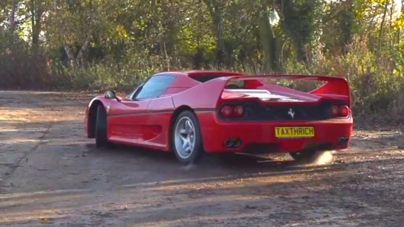 Watch A Ferrari F50 Smoke Some Tires In Slow Motion