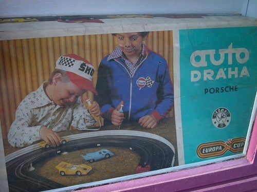 Period Slot Cars with Creepy Kids for Post-Holiday Fun
