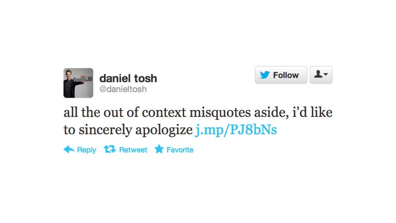 Daniel Tosh Is Sorry He Told a Female Audience Member That She Should Get Hilariously Raped