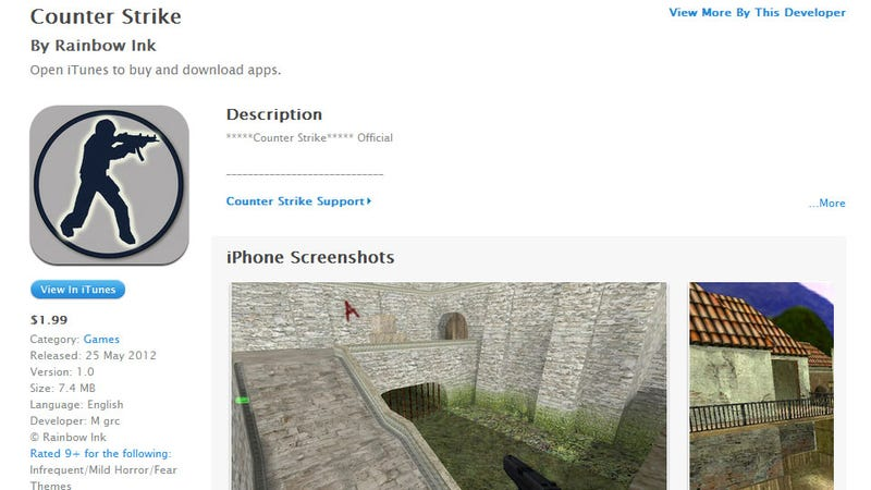 Whatever You do, Don't Buy Counter-Strike on the iPhone