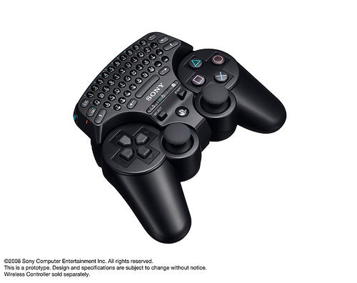 PS3 Wireless Keypad Ships This Holiday Worldwide