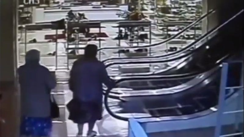 Watch This Woman Ride the Escalator in the Wrongest Way Possible