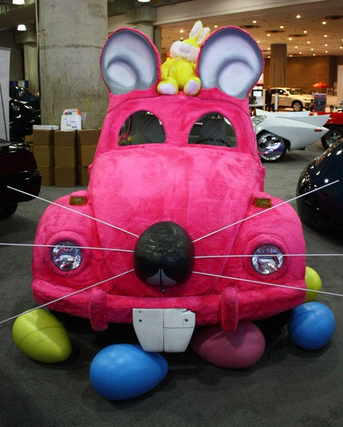 Furry VW Beetle Easter Bunny Will Haunt Your Dreams