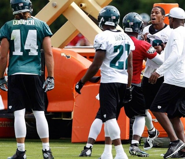 Riley Cooper And Cary Williams Got Into A Fight At Eagles Practice