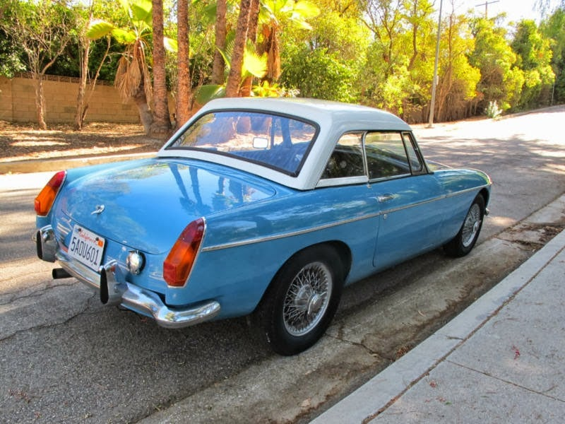 This Ford V8 Powered MGB On Ebay Is Baby Blue Ice Cold Awesome