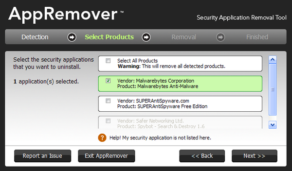 AppRemover Removes Stubborn Security Applications