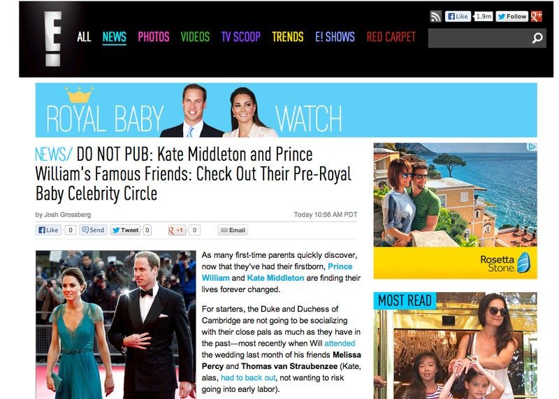 E!'s Hysterical Pregnancy with Kate Middleton's Baby! Get the Details!