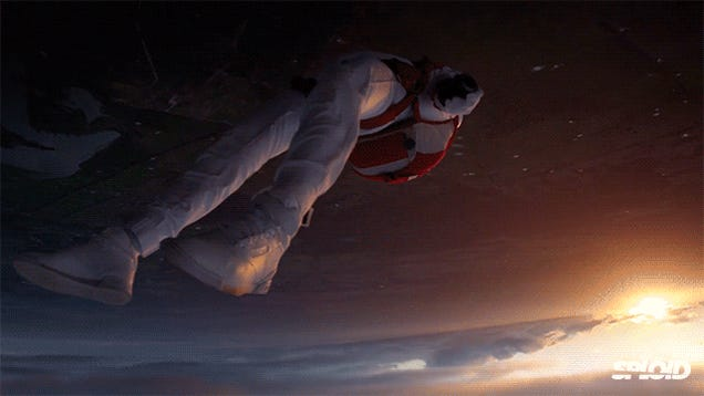 This spectacular video looks like a superhero movie but it's real